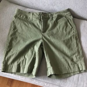 NYDJ Olive Green Bermuda Shorts